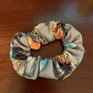 Butterfly Gray scrunchie